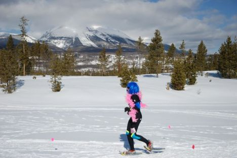 Buffalo Mountain was the backdrop for the Romp to Stomp at the Frisco Nordic Center.