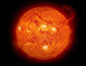 A photo of the sun.