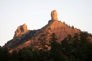 Chimney Rock in Southwest Colorado between Durango and Pagosa Springs