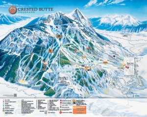 Trail map of Crested Butte Mountain Resort