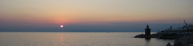 Sunset in Piran, Slovenia