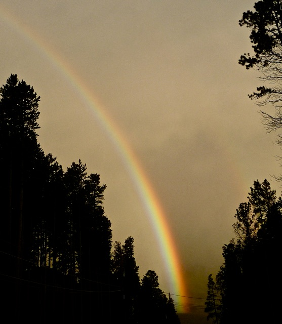 Rainbow in Breckenridge Colorado.