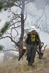 Firefighter at Fourmile Canyon Fire near Boulder, Colorado.