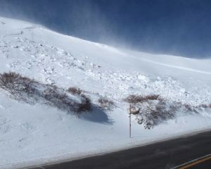 A small slab avalanche in Summit County Colorado