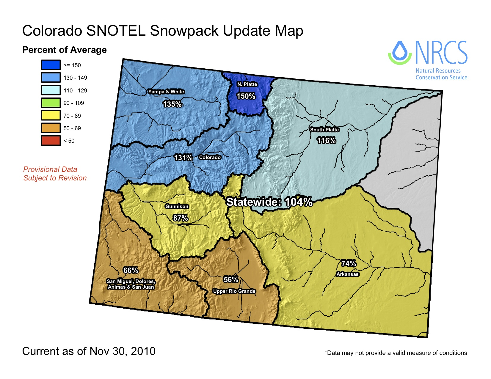 colorado statewide nov 30 snowpack near average summit county