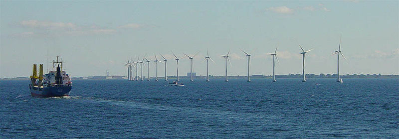 Offshore wind turbines near Copenhagen, Denmark. Under the Obama administration and Energy Secretary Steven Chu, the U.S. may start catching up with other countries in developing renewable energy resources. PHOTO VIA THE CREATIVE COMMONS.