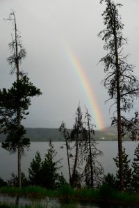 Rainbow at Dillon Reservoir, Summit County Colorado