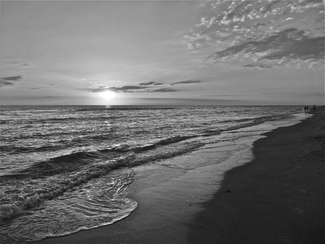 Best Wallpaper Photography Black And White Black And White Beach Sunset
