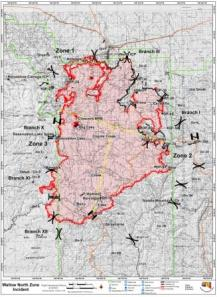 Wallow Fire map June 10.