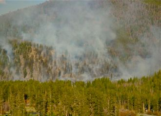 Colorado forest fire
