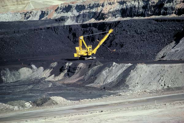 Coal mining in Wyoming