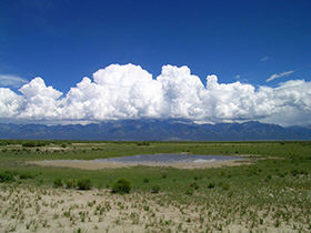 A playa lake at the Baca National Wildlife Refuge. PHOTO COURTESY U.S. FISH AND WILDLIFE SERVICE.