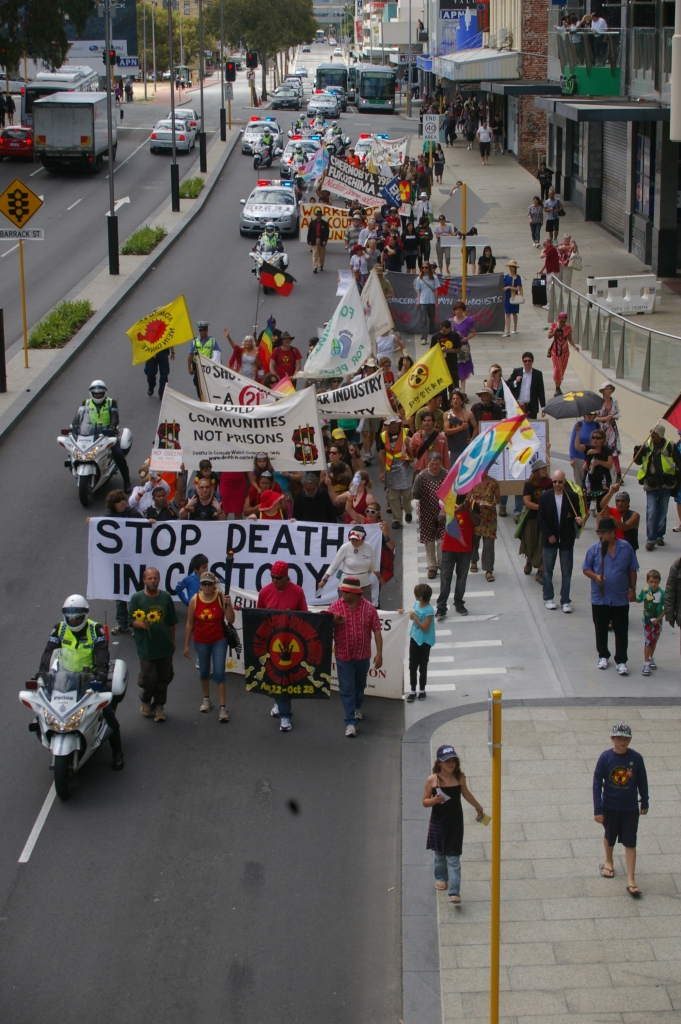 Anti-nuclear marchers in Australia.