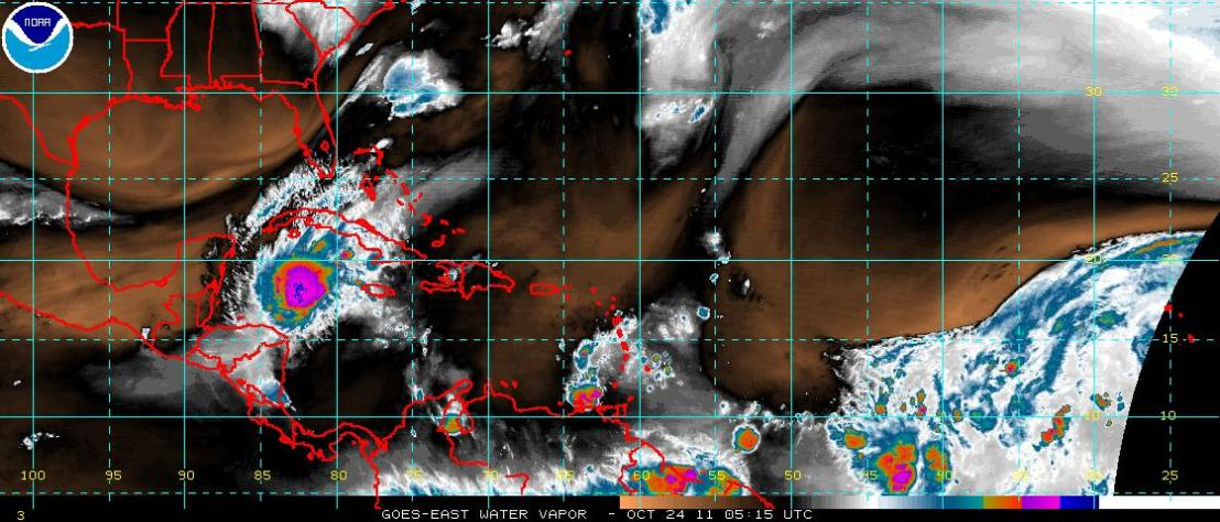 Tropical Storm Rina in the Caribbean