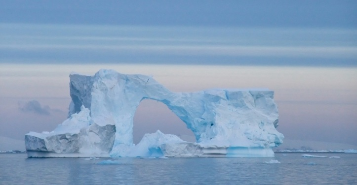 An iceberg Arch in the Weddell Sea.