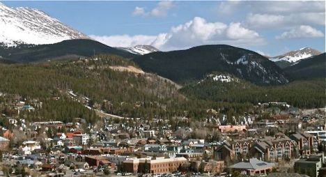 Breckenridge, Colorado, viewed from the overlook on Ski Hill Road.