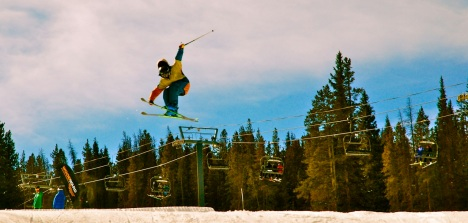Flying high at Copper Mountain.