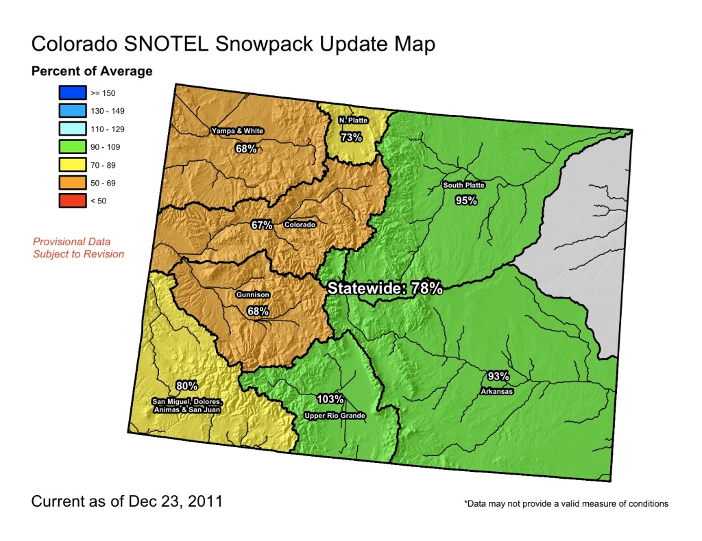 The snowpack across much of northwest Colorado has dipped below 70 percent of average.
