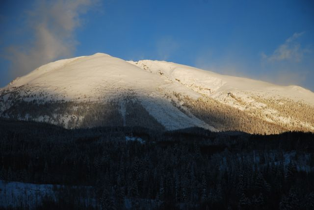Buffalo Mountain looks good with a fresh coat of white.