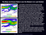 The jet stream pattern in Oct. 2011.