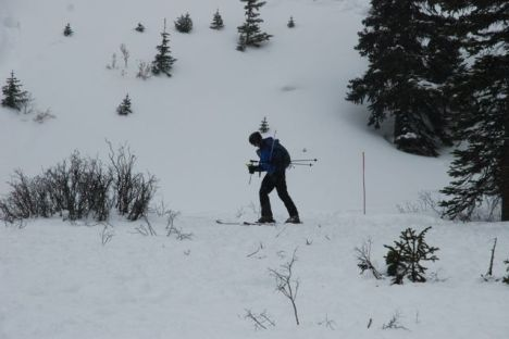A beacon search during the A-Basin Beacon Bowl, 2010.