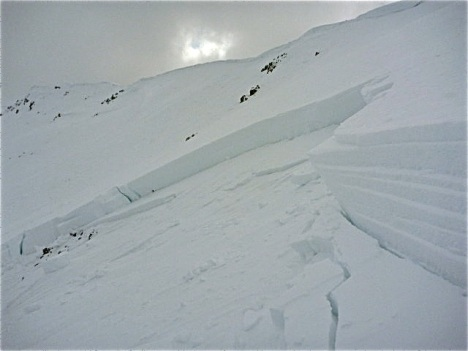 A slabby and fragile snowpack prevails in much of the Colorado backcountry. PHOTO COURTESY CAIC.
