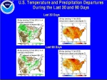 Temperature and precipitation anomalies.