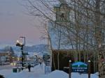 A winter evening in Frisco, Colorado.