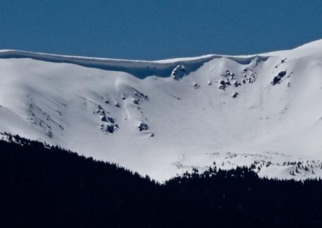 The 'Cirque' between Peak 6 and Peak 5...May 5, 2011. PHOTO BY MATT KRANE.