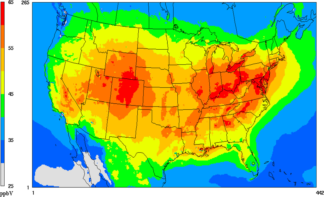 Environment Some US Ozone Spikes Traced To Asia Summit County - Us air pollution map