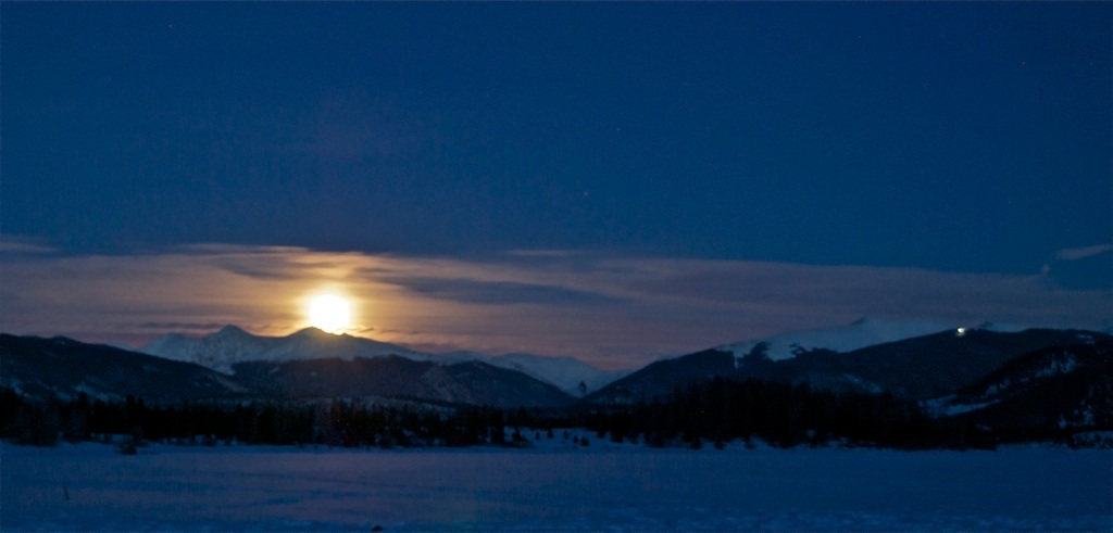 February started with a pretty cool moonrise over the Continental Divide.