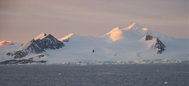Mountains of the Antarctic Sound.