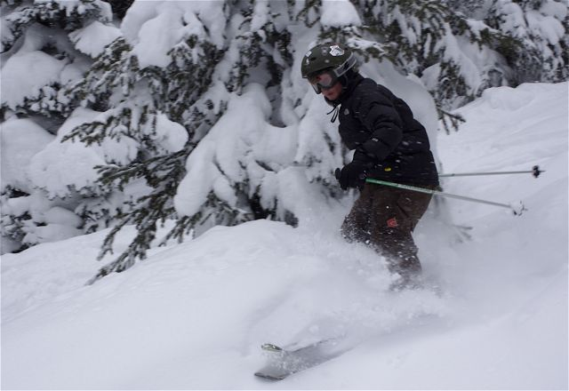 More spring powder in Vail's Back Bowls could help skier visits rebound during the last few weeks of the season.