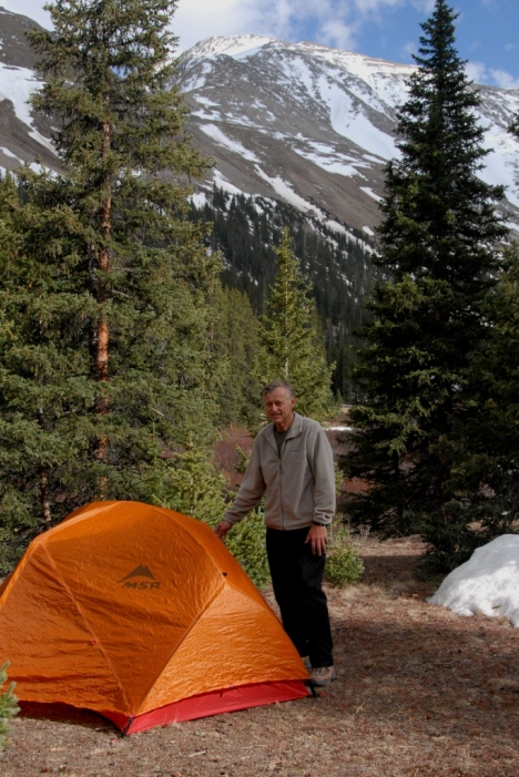 Base camp, 11,000 feet, was a beautiful, table-flat expanse, rare in the steep valleys of Fourteeners.