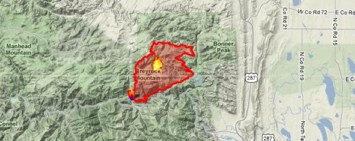 Hewlett Fire Map Colorado