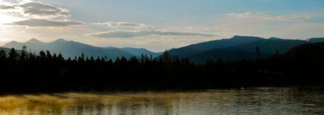 Sunrise over Dillon Reservoir.