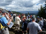 A public site visit to the proposed Peak 6 expansion area drew a crowd.