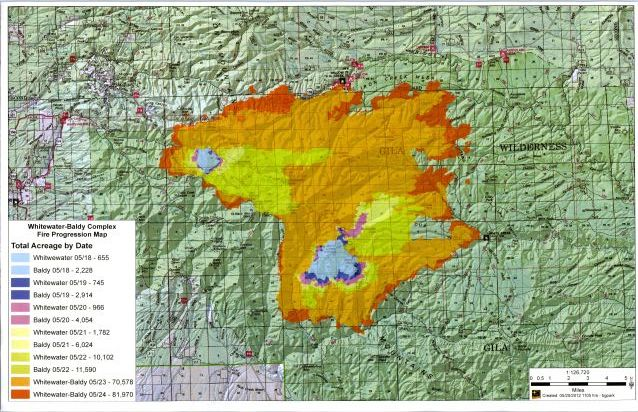 Whitewater Baldy fire complex, New Mexico wildfires