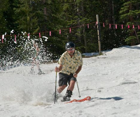 Spring skiing at A-Basin was cut short by lack of snowfall this year.