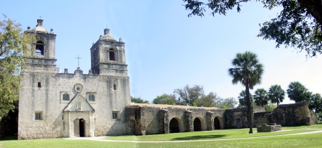 Concepción Mission, San Antonio, Texas. Photo courtesy National Park Service.