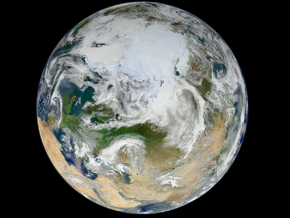Earth. Composite satellite image courtesy NASA.