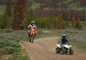 Motorized recreation on Tenderfoot Mountain, Summit County, Colorado.