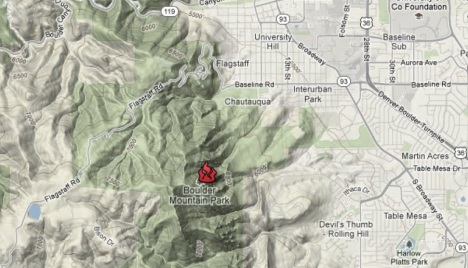 Map Flagstaff Fire Colorado Springs