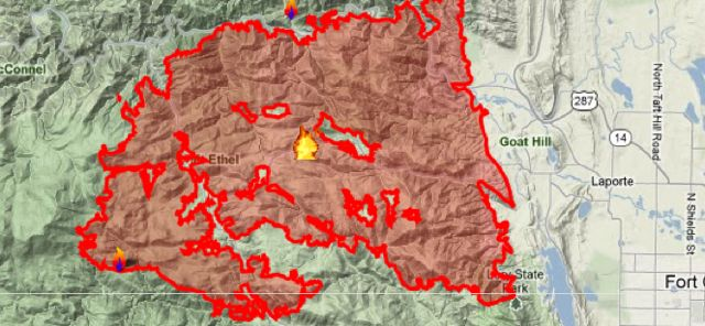 High Park Fire Map.High Park Fire Photos Summit County Citizens Voice
