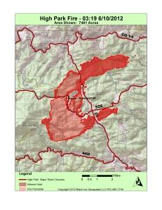 High Park Fire Map.High Park Fire Maps Summit County Citizens Voice