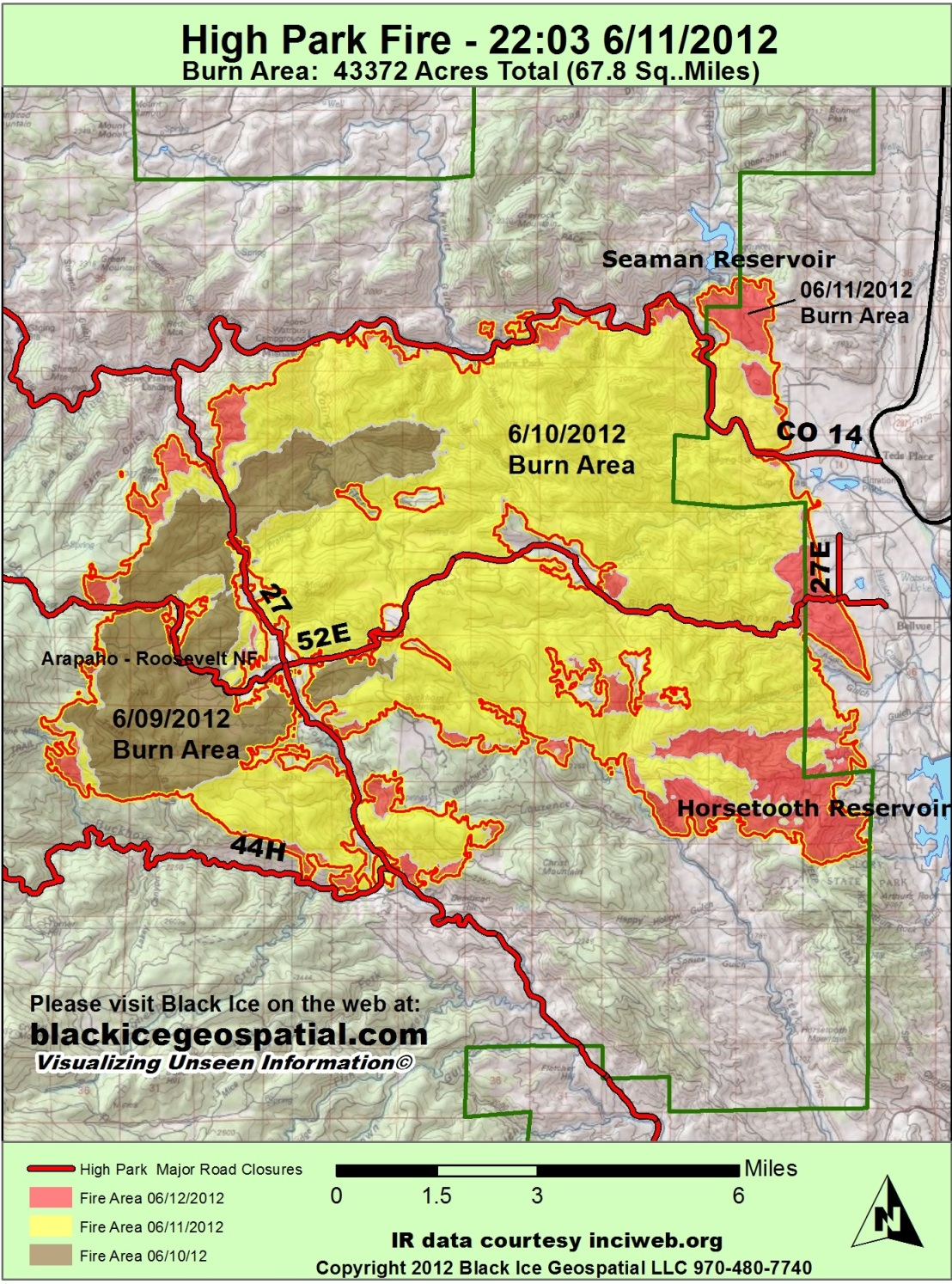High Park Fire Map.Colorado High Park Fire 5 Percent Contained Summit County