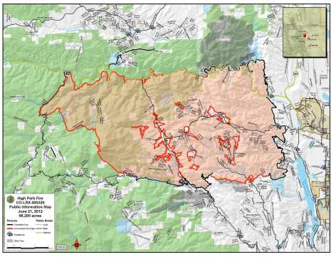 High Park Fire map.