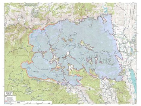 High Park Fire map June 14