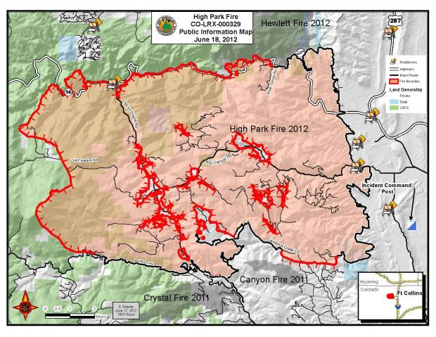 High Park Fire Map.High Park Fire Containment Summit County Citizens Voice