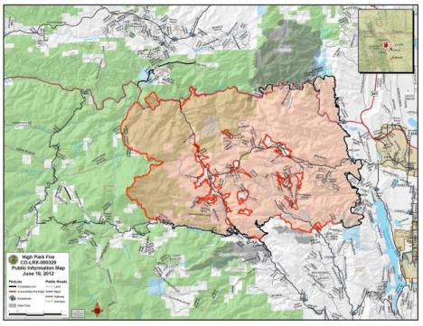 High Park Fire map